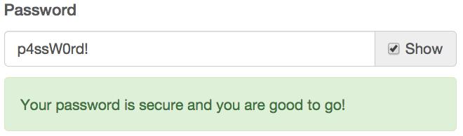 Mailchimp Password Show